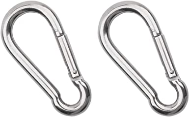 Mountaineering D-shaped Auto Locking Carabiner Clip Snap Hook Keyring Silver