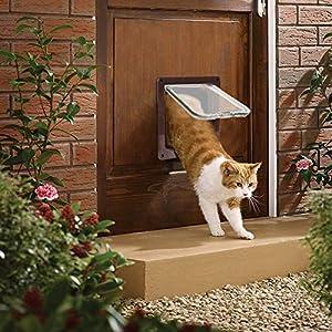 PETCUTE Gateras Puertas para Gatos Gateras para Mascotas con 4 cerraduras Puerta para Cachorros y Perros pequeños