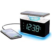 Emerson Radio ER100401 Smartset Alarm Clock Radio, 15Watt Ultra Fast Wireless Charging Dual Alarm Clock Radio with…