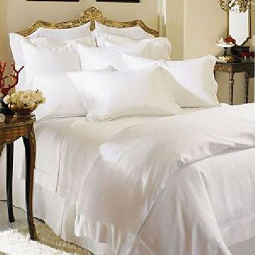Giza Percale by Sferra - King Flat Sheet 114x114 (White) from Sferra