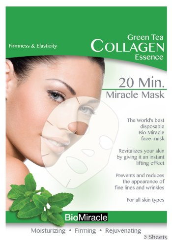 Bio-Miracle Anti-Aging and Moisturizing Face Mask, Green Tea
