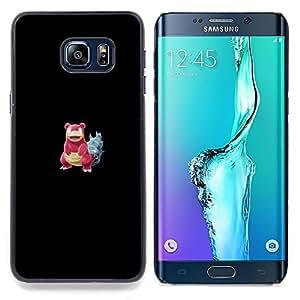 "Qstar Arte & diseño plástico duro Fundas Cover Cubre Hard Case Cover para Samsung Galaxy S6 Edge Plus / S6 Edge+ G928 (Meter monstruo rojo cangrejo"")"