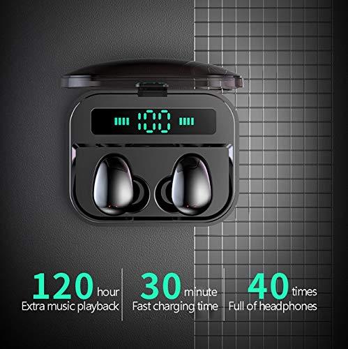 Alician X7 Wireless Earbuds Bluetooth 5.0 Earbuds TWS Fingerprint Touch Bluetooth Earphone Mini IPX7 Waterproof Headphones Black