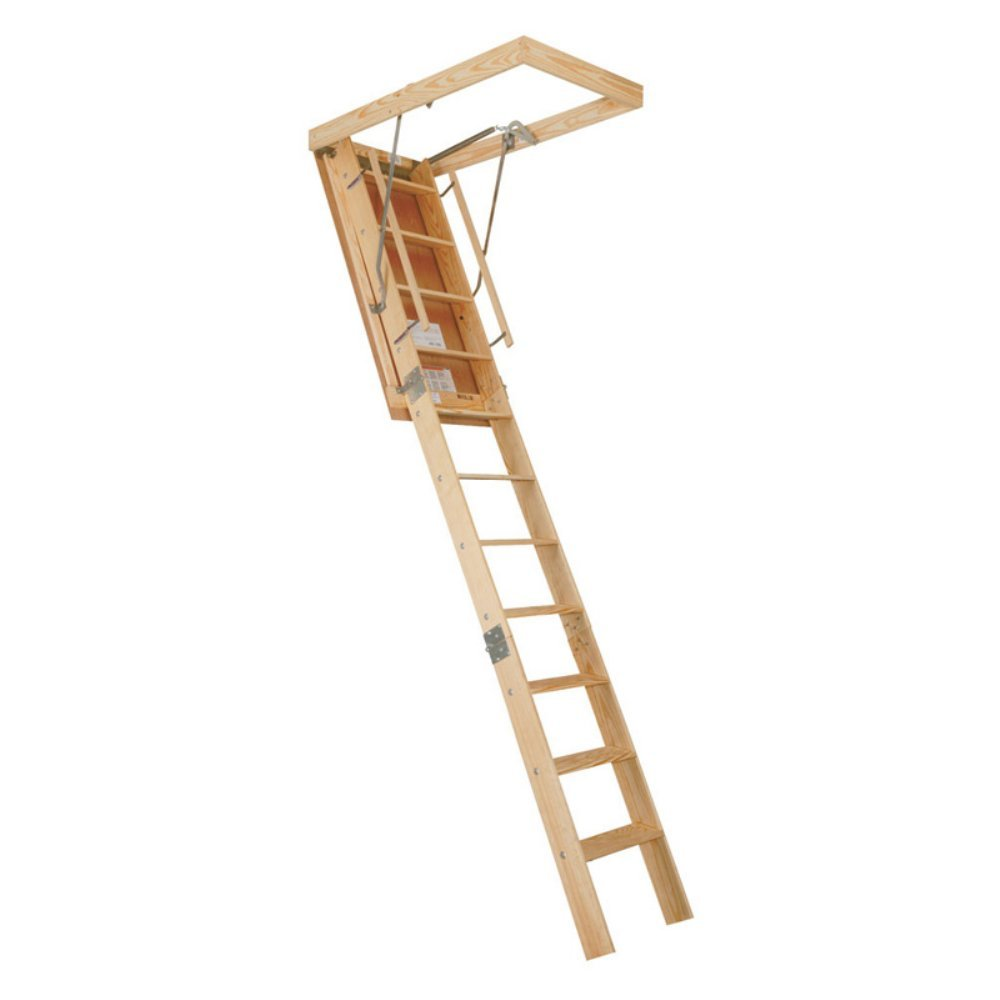 spacemaker wooden attic stair extension ladders amazoncom