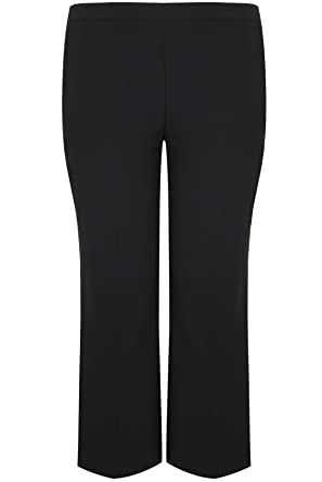 6a3d9266aff Yours Women s Plus Size Classic Straight Leg Trousers With Elasticated  Waistband - Pet  Amazon.co.uk  Clothing