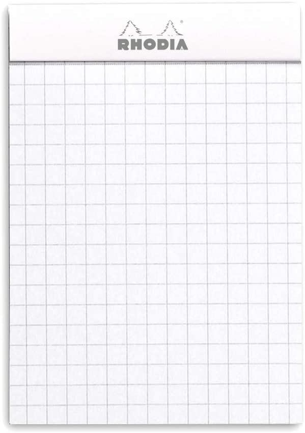 Blanco Rhodia 11201C Cuaderno con cuadrados A7 80 hojas 7.4 x 10.5 cm