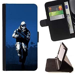 For Motorola Moto E ( 1st Generation ) Case , Soldado de Invierno- la tarjeta de Crédito Slots PU Funda de cuero Monedero caso cubierta de piel