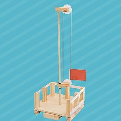 N/ jikaixiang DIY Assembly Flag Lifting Platform Kit Physical Experiment Educational Kids Toy DIY Cartoon Animal Art Craft Kid Toy: Garden & Outdoor
