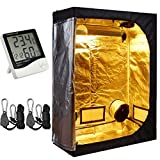 TopoLite 48″x24″x60″ Grow Tent + 1 Pair Light Hangers + 1 Pcs Hygrometer Thermometer for Indoor Garden Growing Room Hydroponic System