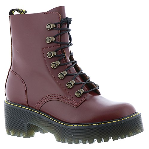 Dr. Martens Womens Leona 7 Tie Boot, Size: 9 B(M) US/7 F(M) UK, Color Oxblood Vintage Smooth by Dr. Martens