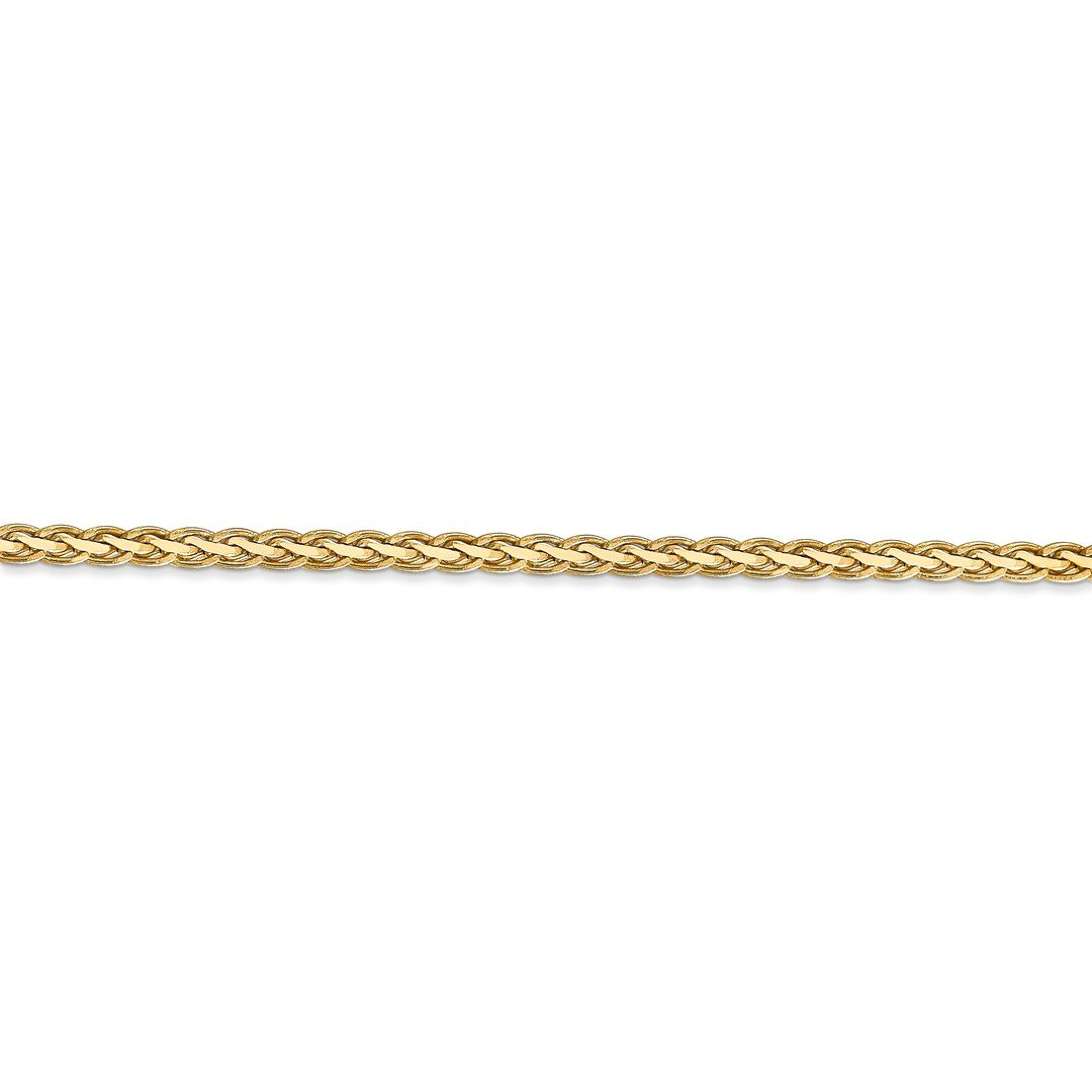 ICE CARATS 14k Yellow Gold 3mm Flat Link Wheat Bracelet Chain 7 Inch Fine Jewelry Ideal Mothers Day Gifts For Mom Women Gift Set From Heart by ICE CARATS (Image #4)