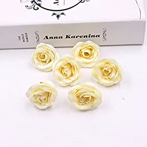 30pcs 4cm Silk Rose Artificial Flower Wedding Home Furnishings DIY Wreath Sheets Handicrafts Simulation Fake Flowers 4