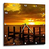 3dRose dpp_16785_1 Burnt Orange Sky Wall Clock, 10 by 10-Inch For Sale
