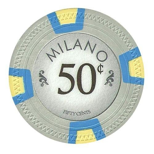Bry Belly CPML-50c 25 Roll of 25 - Milano 10 Gram Clay - .50¢ - cent