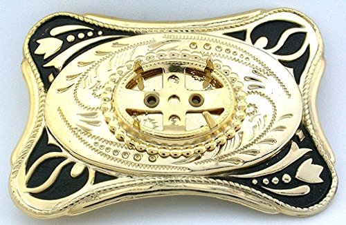 25x18 25mm x 18mm Cabochon Bright Antiqued Gold Color Belt Buckle Mounting CF915