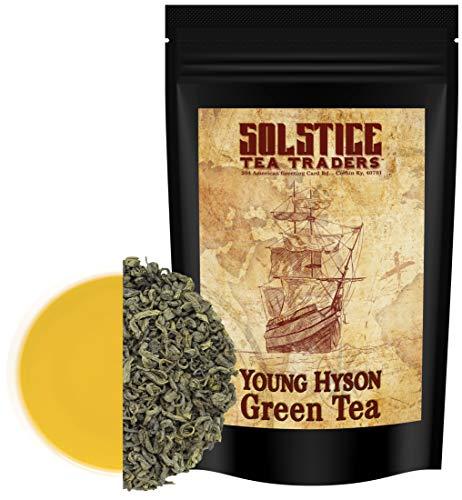Chinese Young Hyson Loose Leaf Green Tea (8-Ounce Bulk Bag); Lucky Dragon Tea