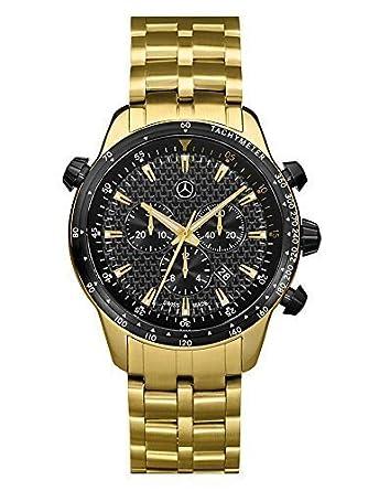 Armbanduhr - Herren - MSP Chrono Gold Edition gold - schwarz - Edelstahl - Carbon - PVD beschichtet