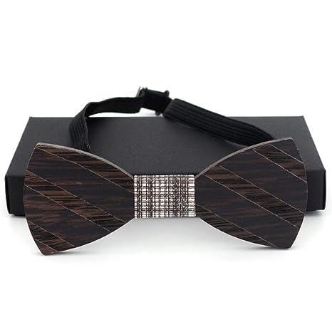 Corbatas de lazo de madera para hombre Corbata de rayas Trajes ...