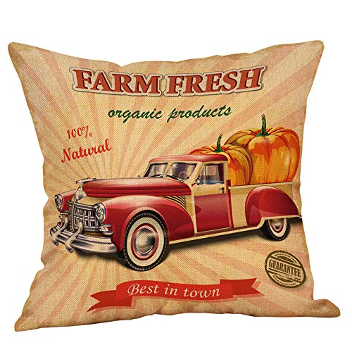 Halloween Pillowcases Sale KIKOY Retro Pumpkin Cars Printing Sofa Cushion Cover Home Decor -