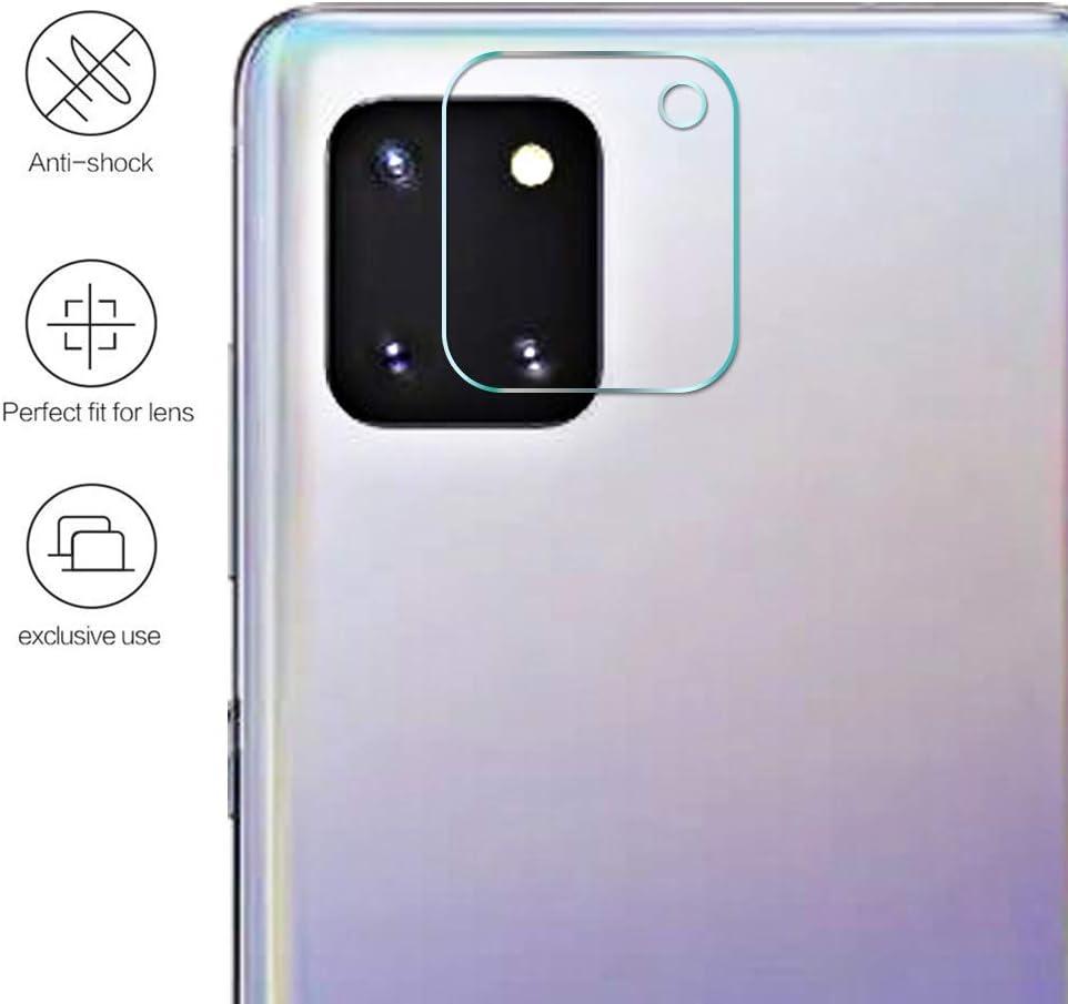 Protection /écran dobjectif Arri/ère Anti Rayure Antichoc Duret/é 9H Glass Verre Tremp/é Cam/éra Arri/ère Protecteur pour Samsung Galaxy Note 10 Lite 2.5D HD Ultra Transparent sans Bulles dair
