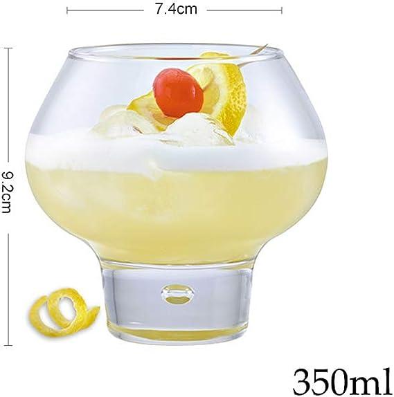 MIAO. Copa de Whisky de Fondo Redondo, Copa de Vino, Copa de ...