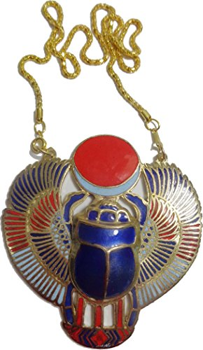 Scarab Necklace Pendanat Jewelry Xl Enameled Egyptian 102