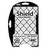 Black Shielded RFID Blocking 2 TWIC/CAC Card Holder by EK - Made in The USA