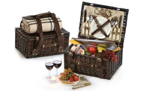 Picnic Plus Copley 2 Person Picnic Basket With Insulated - All Picnic Seasons Basket