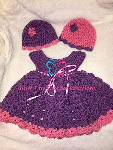 62627a98f7115 Baby Newborn Infant Dress and Hat Set - Easter Dress - Spring Dress -  Summer Dress