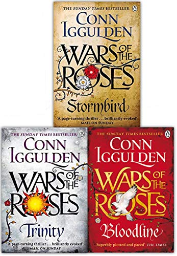 (Wars of the Roses Series Collection Conn Iggulden 3 Books Set (Stormbird, Trinity, Bloodline) )