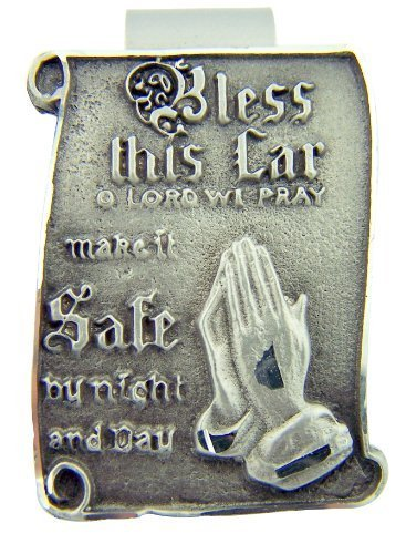 - Pewter Bless this Car O Lord We Pray Visor Clip with Praying Hands, 1 1/2 Inch