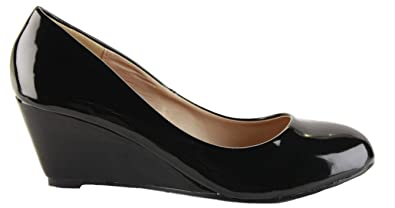 a7bfbedc6d1fc Ladies Womens Smart Pumps Work Formal Court Wedge Shoes Wedges High Heel  Platform Classic Size 3 - 8 New