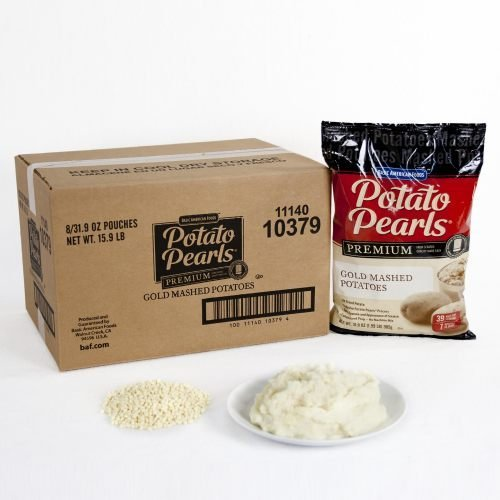 Potato Pearls Excel Gold Mashed Potato, 31.9 Ounce - 8 per case. by Basic American Foods