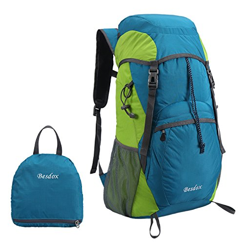Besdox Foldable Backpack 40L Lightweight Travel Water Resistant