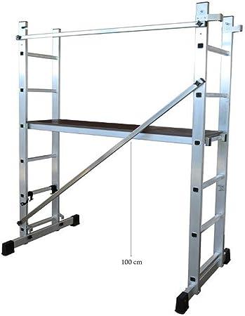 ALTIPESA Escalera - andamio Profesional de Aluminio 2 x 6 peldaños Multiusos: Amazon.es: Hogar