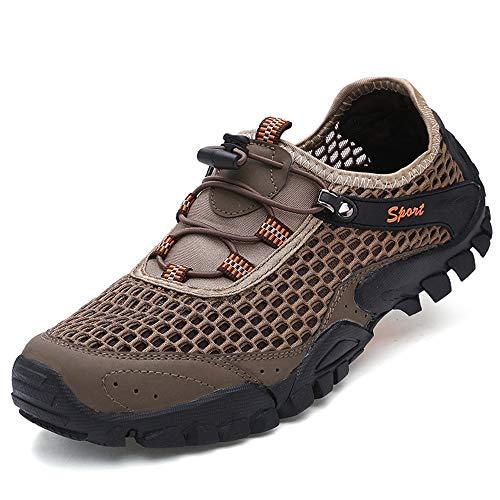 Air En Eu Non Des Plein Hommes D'eau Sur Évider coloré Marron Taille Antidérapant Qiusa Marron Chaussures D'été 43 IZxq1fwwvE