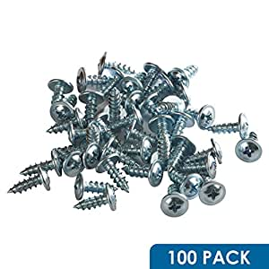 "100 Pack Rok Hardware #8 x 1/2"" Standard Thread Truss Head Screws Wood Work MDF Zinc"