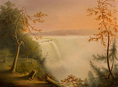 Wall Art Print entitled Niagara Falls, The Horseshoe Falls By Rembrandt Pe by Celestial Images | 48 x 35