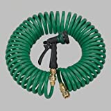 10 Pack - Orbit 50 Foot Coiled Garden Hose with 6 Pattern Spray Nozzle