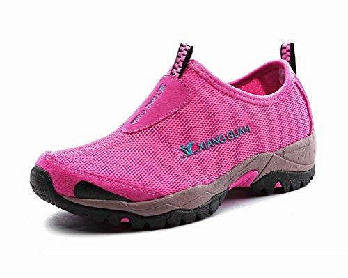 Women's Outdoor Casual Mesh Slip-on Shoe,Lightweight Breathable Waterproof Hiking Trekking Sneaker