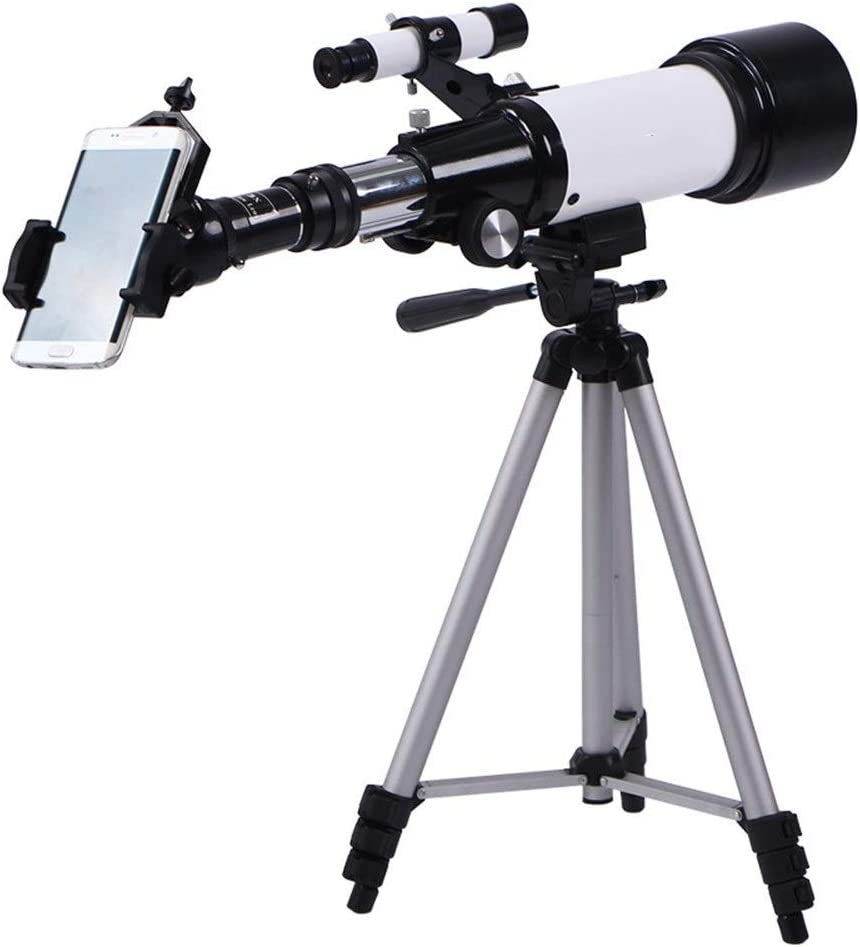 Jeterndy Telescope Student Astronomical Telescope Observing Lunar Telescope Multi-Eyepiece with Mobile Docking Station for Kids and Aduit Travel Scope Color : White, Size : 63x12.5x21cm