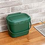 Addis-Everyday-Papelera-de-Cocina-para-residuos-de-Alimentos-para-compostar-plastico-Verde-Oscuro-Compost-Caddy
