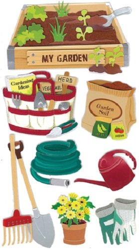 Jolee's Boutique Gardening Dimensional Stickers