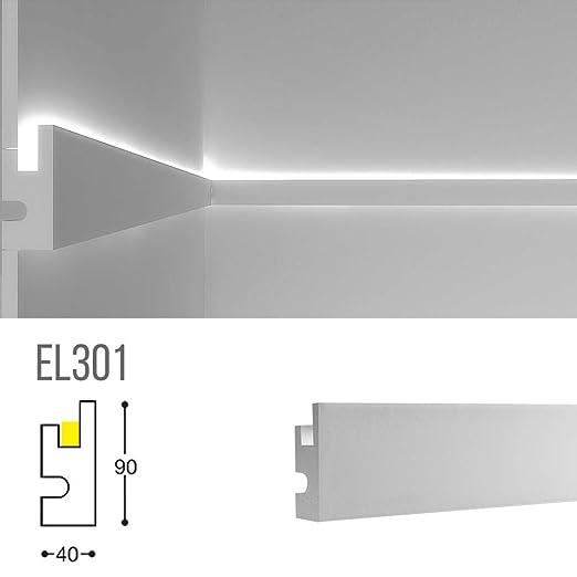Marco para iluminación indirecta LED de pared o techo ...