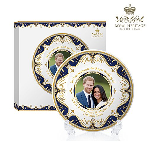 Royal Heritage - Designed in England Decorative Harry and Meghan Markle Wedding Plate 6-Inch