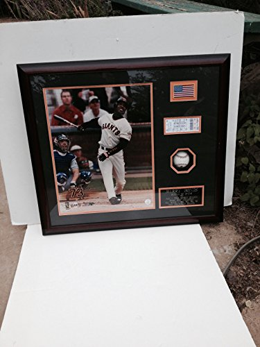 Barry Bonds Signed Autograph Baseball Photo Framed AUTO Giants 25 Hologram COA