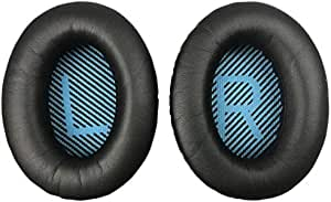 QC2 Earpads Replacement Ear Pads Ear Cushion Compatible with Bose QuietComfort 2 QC35 QC25 QC2 QC15 SoundTrue SoundLink Around-Ear AE2 AE2i AE2w Headphones (Black)