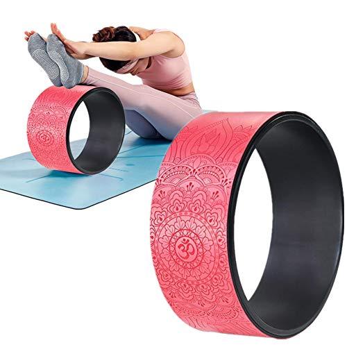 WESEEDOO Yoga Rad Yogaring Flexibilitätshilfe Yoga Wheel Backbends verbessern Yoga Prop Wheel erhöht die Flexibilität Yoga Stretching Wheel rutschfest