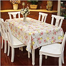 "Spritech(TM) 53.9"" * 78.7"" Fashions Rectangular Waterproof PVC Plastic Table Cloth Table Cover"
