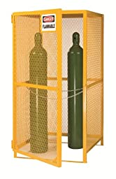 Little Giant GSU-36W-70H 13-Gauge Steel Upright Gas Cylinder Storage Unit, 5 to 15 Cylinders Capacity, 36\